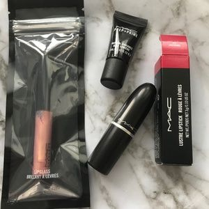 🔹MAC Lipglass, Lipstick & Prep & Prime Bundle